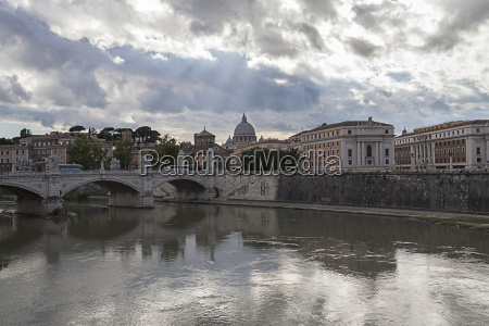 italy rome vatican over tiber river