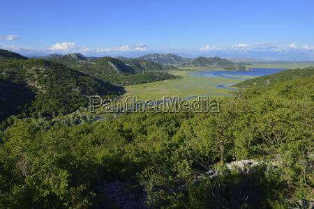 montenegro crna gora scutari view over