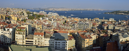 turkey istanbul panoramic view from galata