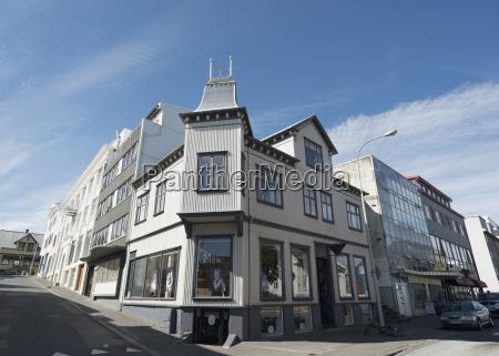 island reykjavik ansicht von wohngebaeuden