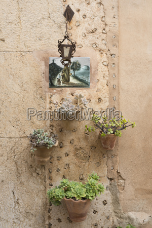 spain majorca valldemossa clay hanging basket