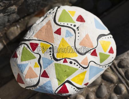 portugal madeira santana painted stone with