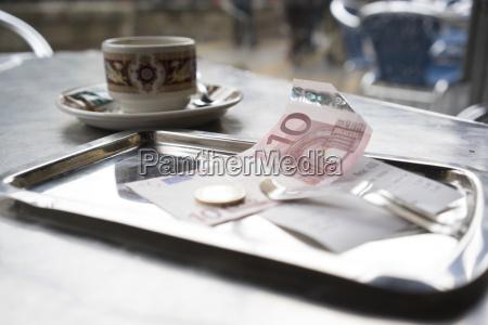spain bilbao bill and coffee cup