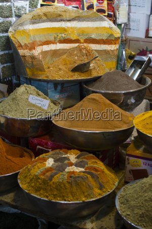 iran isfahan different curry powders at