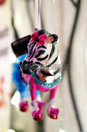 zebra als weihnachtsdekoration