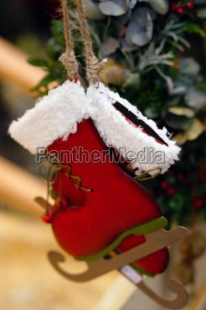 ice skates as christmas decoration