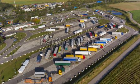 deutschland bayern vaterstetten autobahnservicebereich draufsicht