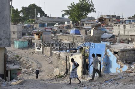 haiti port au prince deprived area