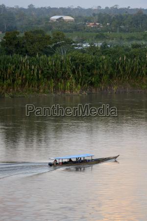 peru puerto maldonado boat on river