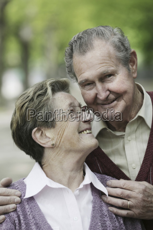 germany cologne senior couple in park