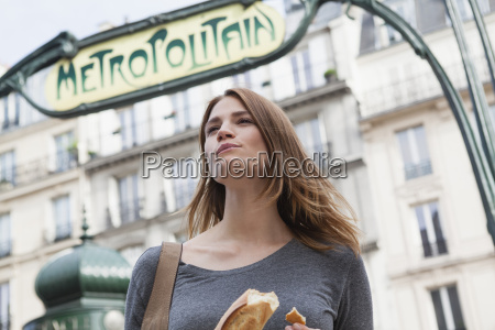 france paris portrait of young woman
