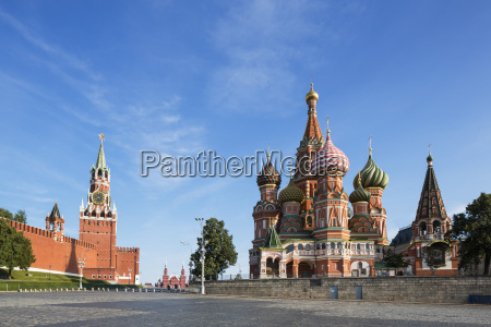 russland moskau basilius kathedrale mit kreml