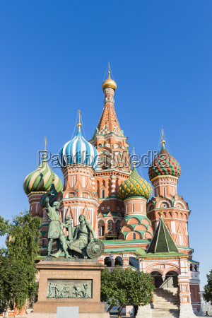 russia moscow saint basils cathedral with