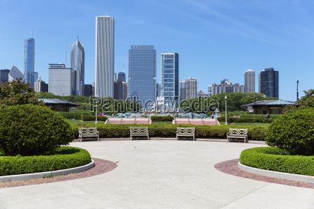 usa illinois chicago millennium park with