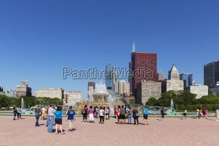usa illinois chicago millennium park tourists