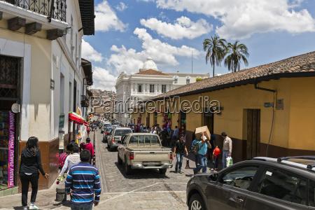 ecuador quito road traffic