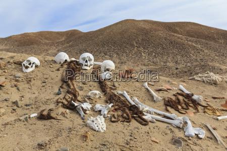 peru nazca cahuachi ceremonial center skulls