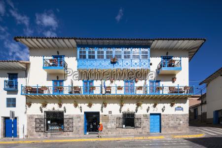 peru cusco historical house in the