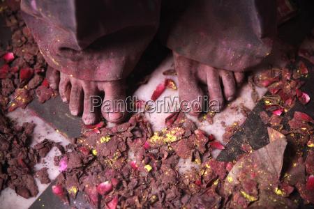 indien uttar pradesh vrindavan holi fruehlingsfest