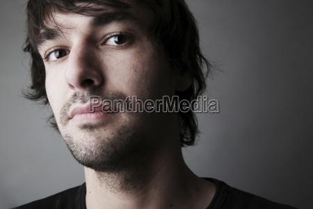 portrait, des, jungen, mannes, close-up - 21086213