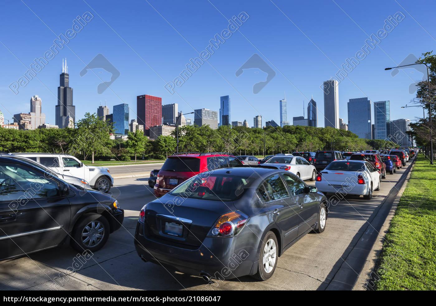 usa, illinois, chicago, stau, auf, dem, lake, shore, drive - 21086047