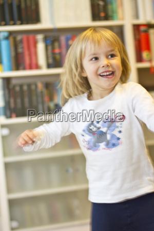 portrait of happy little girl