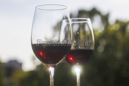germany red wine in glass close