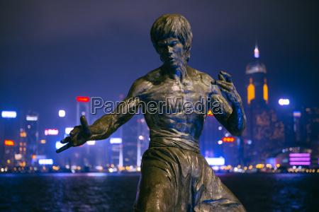 china hong kong bruce lees statue