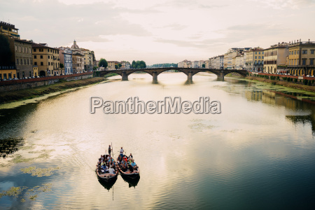 italy florence boats on arno river