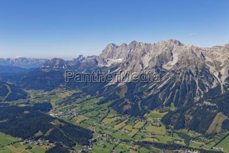 austria styria liezen aerial view with