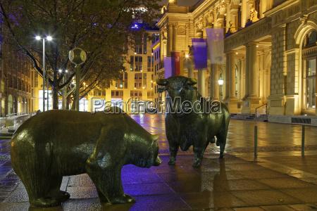 germany hesse frankfurt bull and bear