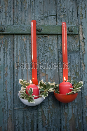 christmas decoration made of soup ladles
