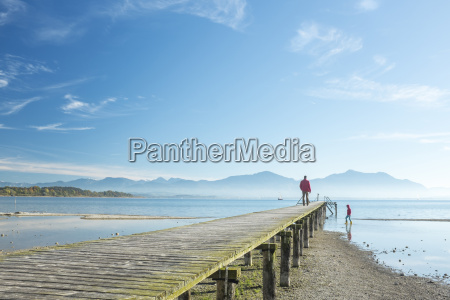 germany lake chiemsee seebruck wooden jetty