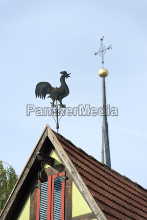 germany bavaria cock on roof
