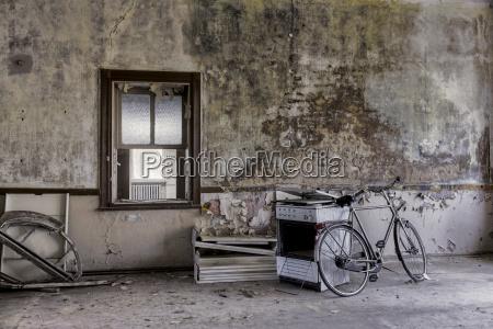 deutschland thueringen erfurt altes fahrrad und