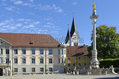 deutschland bayern oberbayern eichstaett marienbrunnen von