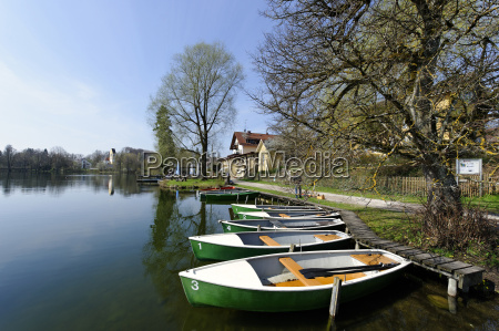 germany upper bavaria wessling boats at