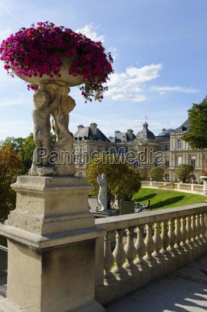 france paris palais du luxembourg jardin