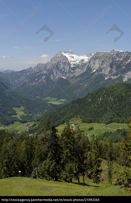 deutschland, bayern, berchtesgadener, alpen, bei, ramsau, reiter, alpe, blick, auf, hochkalter - 21092343