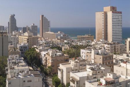 israel tel aviv stadtbild wohngebiet und
