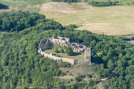 germany wandersleben aerial view of medieval