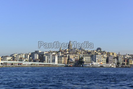 turkey istanbul view of galata bridge