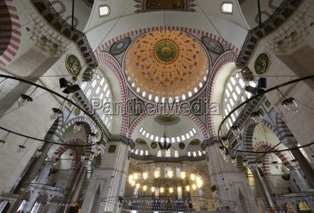 turkey istanbul interior of suleiman mosque