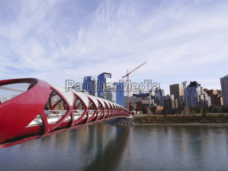 canada calgary city view with peace