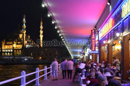 turkey istanbul restaurant on galata bridge