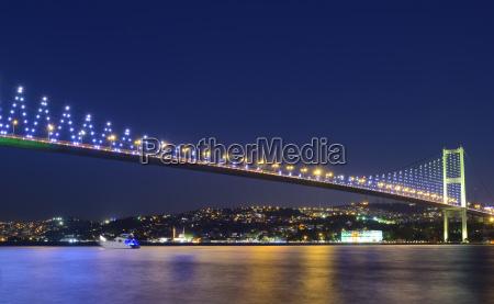 turkey istanbul view of bosphorus bridge
