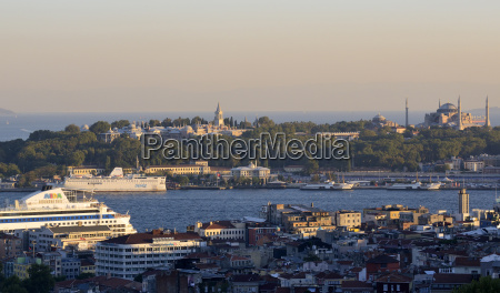 turkey istanbul view of golden horn