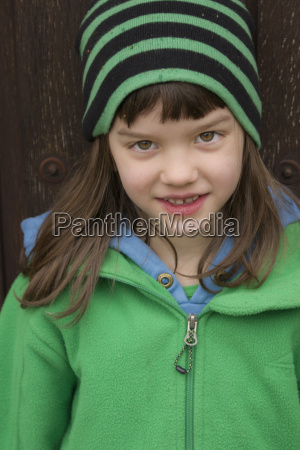 portrait of girl smiling close up