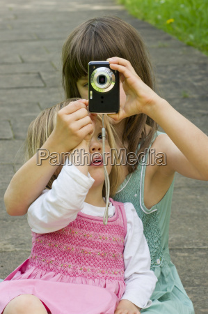 germany baden wuerttemberg girl taking picture