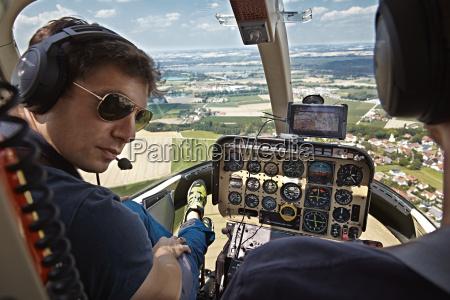 germany bavaria landshut helicopter pilot in